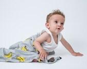Organic cotton large baby blanket , summer Blanket , free shipping
