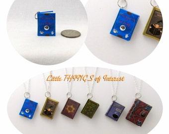 CHARM Unfogging the Future Book Necklace Bracelet Pendant Jewelry Christmas Ornament