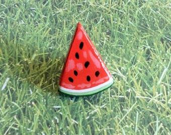 Watermelon Ring, Large Fruit Ring, Statement Ring, Food Ring, Watermelon Jewelry, Fruit Jewelry, Large Wood Ring