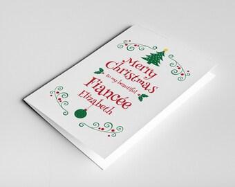 Fiancee Christmas Card, Gift For Fiancee, Christmas Love Card, Romantic Christmas, Christmas Fiancee Card, Fiancee Xmas Card, Fiancee Gift