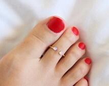 Raw Stone Toe Ring,  Druzy Toe Ring,  Sterling Silver Toe Ring , Minimal Modern Jewelry, Minimal