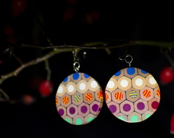 Earrings from jumbo colored pencils