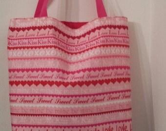 LOVE and KISSES Valentine, Be Mine Tote Bag