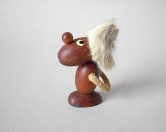 Mid Century Danish teak figurine pessimist optimist Bolling era Danish modern scandinavian figurine wood home decor 60s