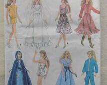 1980s Vintage Barbie Wardrobe Pattern Simplicity #8333 UNCUT