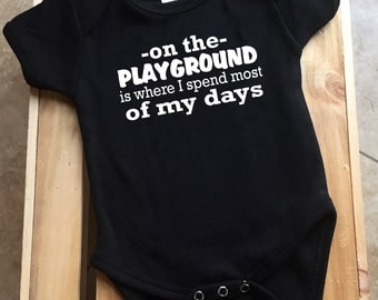 On the playground baby shirt DIY - Fresh Prince Shirt - Baby Shirt - Funny Baby Onesie - IRON-on ONLY
