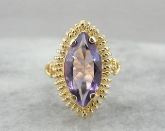 Marquise Cut Mid-Century Amethyst Dinner Ring  A0MMFN-D