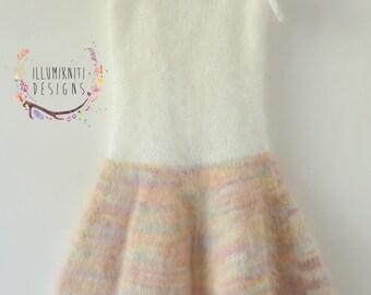 Ella Angora Sitter Dress Knitting Pattern Photography Prop - Instant Download