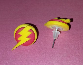 Polymer Clay Earrings - The Flash, Zoom, Reverse Flash, etc.