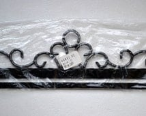 Wrought iron tapestry hanger Unused quilt hanger 89 cm wide Textile wall decor metal hardware supply Large rug hanger from Norway