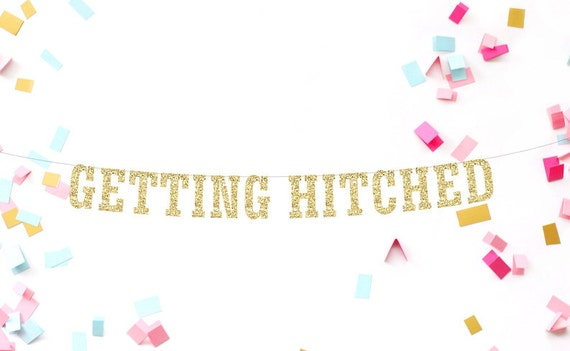 getting hitched banner engagement banner by mailboxhappiness