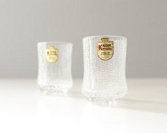 CLEARANCE 2 Kaiser Ultima Thule Cordial Shot Glasses Crystal Iittala