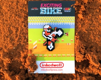 Exciting Bike Enamel Pin (Nintendo's Excitebike)
