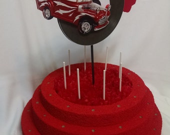 Sock Hop Lollipop Stand - Birthday Lollipop Holder - Cake Pop Stand - Lollipop Stand - Grease Theme Party Decoration - Party Decoration