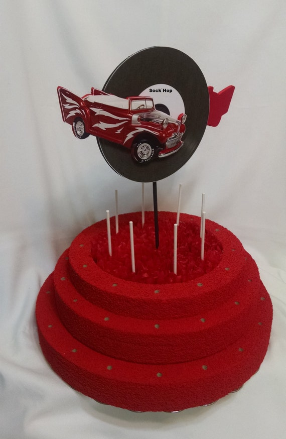 Sock Hop Lollipop Stand - Birthday Lollipop Holder - Cake Pop Stand ...