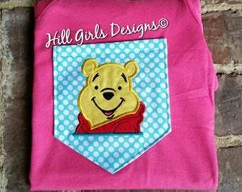Pooh pocket tee or appliquéd tee shirt