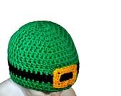 Crochet Leprechaun Hat, Green St. Patrick's Day Hat, Leprechaun Beanie, Newborn Photoprop, Baby Boy St Patricks Baby Girl Toddlers Green Hat