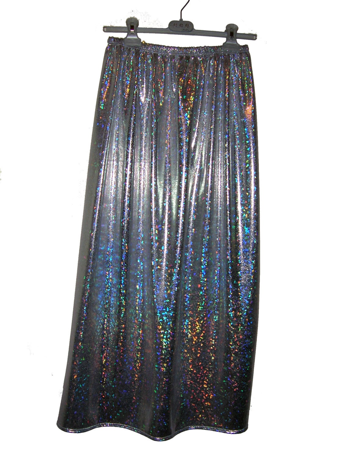 handmade holographic 90 s grunge future maxi skirt size xs