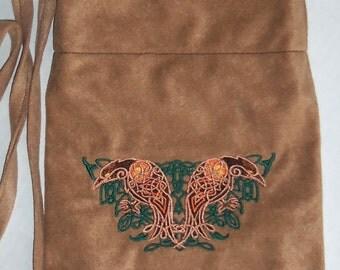 Celtic Knotwork Raven Purse Bag