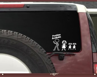 Funny Stick Figure Family Decal Single Mom Son Dog Stick - Unique car decals stickers