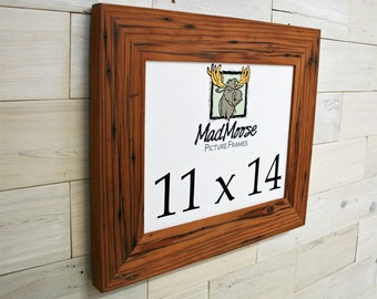 "11x14 Reclaimed Redwood [Chunky x 3""] Picture Frame"