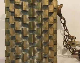 Fredrick Ramond Style Swag Lamp 1960's