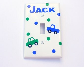 Personalized Car And Truck Light Switch Cover / Over-Sized / Bedroom Decor