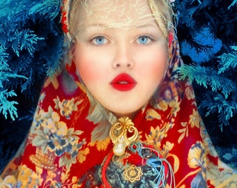 "Postcard photography art ""Russkaya dusha"""