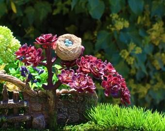 Bird Nest, Miniature Nest, Bird Nest with Eggs, Resin Bird Nest, Fairy Accessory, Craft Supplies, Terrarium, Hair Clips, Miniature Birdhouse