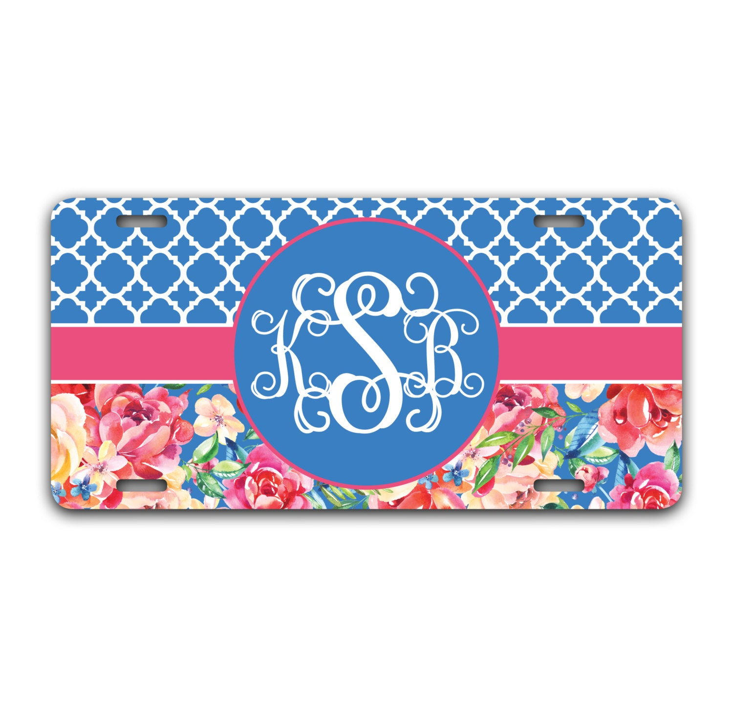 Gift Ideas For Women Floral Front License Plate