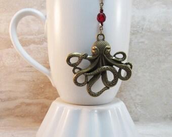 Beaded tea strainer etsy - Octopus tea infuser ...