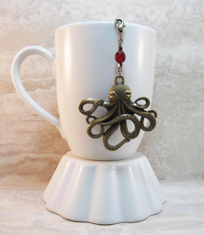 Octopus tea infuser charm jules verne inspired antique bronze - Octopus tea infuser ...