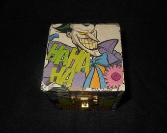 The Joker Hand Decorated Keepsake Trinket/Gift box