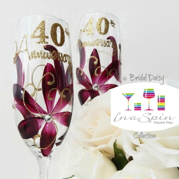 Ruby Wedding Gift For Parents : 40th Wedding Anniversary Gift For Parents Ruby 40th Anniversary Hand ...