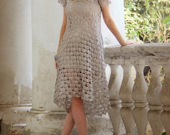 "Сrochet dress ""Marshmallow"""