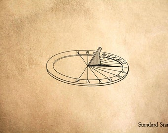 Sundial Rubber Stamp - 2 x 1 inches