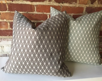 Basket Weave Pillow Cover in Sage Green or Truffle Grey-DD39