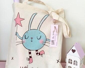 Lupi the bunny - tote bag