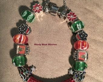 Christmas Pandora Style Bracelet