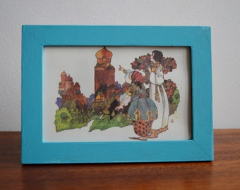Reworked Vintage Children's Fairy Tale Illustration Wall Art