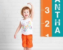 Growth Chart Ruler, Personalized Growth Chart, Large Canvas Sign, Growth Chart Canvas, Growth Chart Boy, Growth Chart Girl, Decal