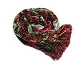 "Velvet scarf - crinkle scarf - silk blend velvet - winter scarf - brown, rust, burgundy, marsala,ice blue, red violet - hand dyed - 13""x59"""