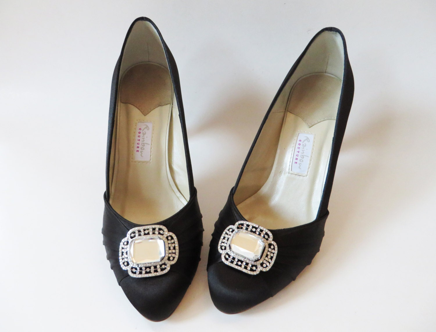 black satin shoes with rhinestone black shoes black