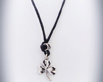Shamrock Necklace, Silver Shamrock, Lucky Clover Necklace, Irish Shamrock,