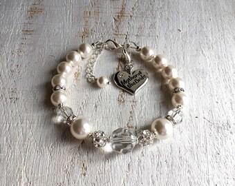 Mother-of-the-Bride Bracelet Wedding Gift for Mother-of-the-Bride Gift from Daughter Mother-of-the-Groom Gift from Bride Mother-in-Law Gift