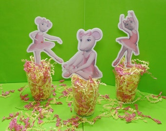 Angelina Ballerina Toppers/Centerpieces by WonderFullyLinked