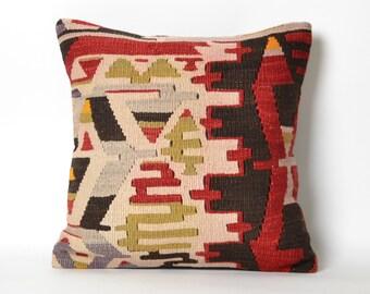 kilim pillow, tribal pillow, boho pillow, decorative pillow, bohemian, kilim pillow cover, turkish pillow, aztec pillow, southwestern pillow