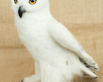 Made to Order Needle Felted Owl: Custom needle felted animal sculpture