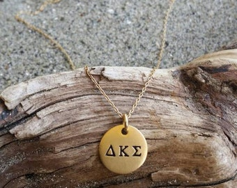 Greek Necklace, Greek, Letter, Necklace, Gold, Sorority Necklace