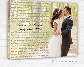 Valentines Day Gift Wedding anniversary gift Photo with words Custom Canvas Decor Personalized print Wedding gift Gift for her Gift for him.